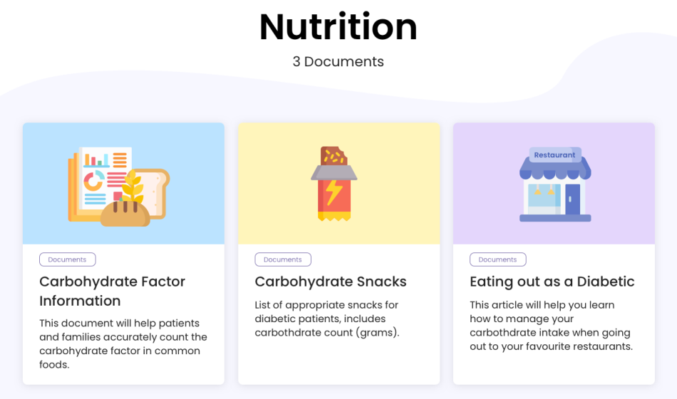 photo of diabetes educational resource on St. Michael's Hospital patient portal